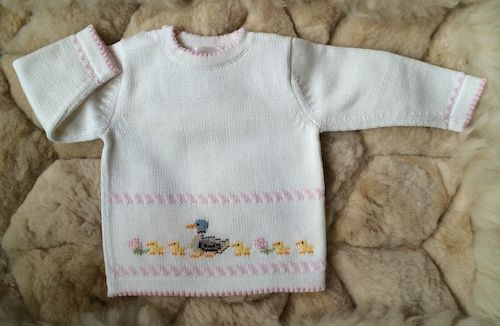 e4ad1f553480 Baby Cotton Sweater Make Way for Ducklings