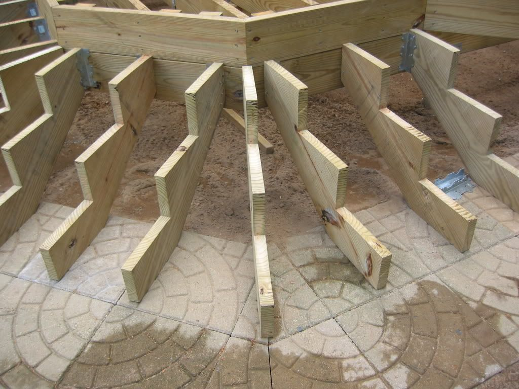 The Joist Angles Are 45 Deg From Corner Point Go In 2 Ft Then   Building Steps Off Deck   Staircase   Composite   Handrail   Woodworking   Stair Railing