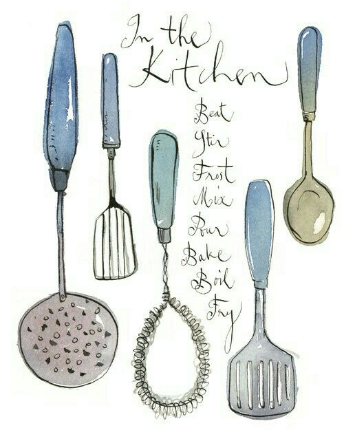 Kitchen Tools Drawings pintad on kitchen tools | pinterest