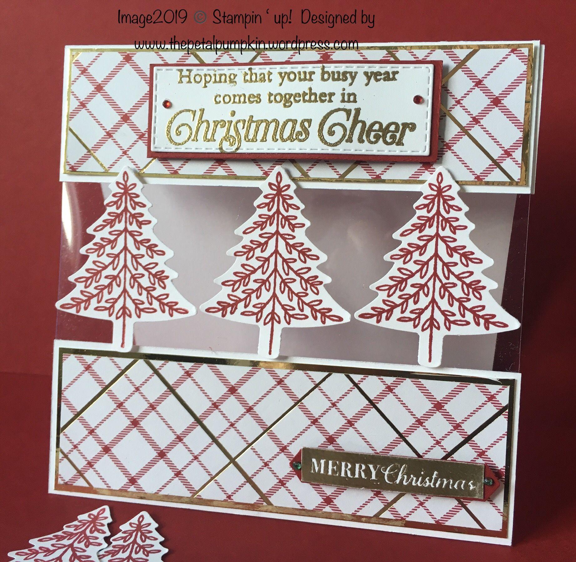 More Pine Trees | Christmas cards handmade, Christmas tree cards