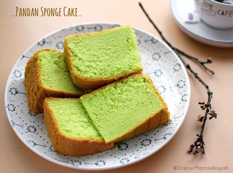 Dapur Mama Aisyah Pandan Sponge Cake Yang Lembut Dan Lembuuut Meski Tanpa Emulsifier Pengembang Kue Chiffon Kue Lezat Makanan Manis