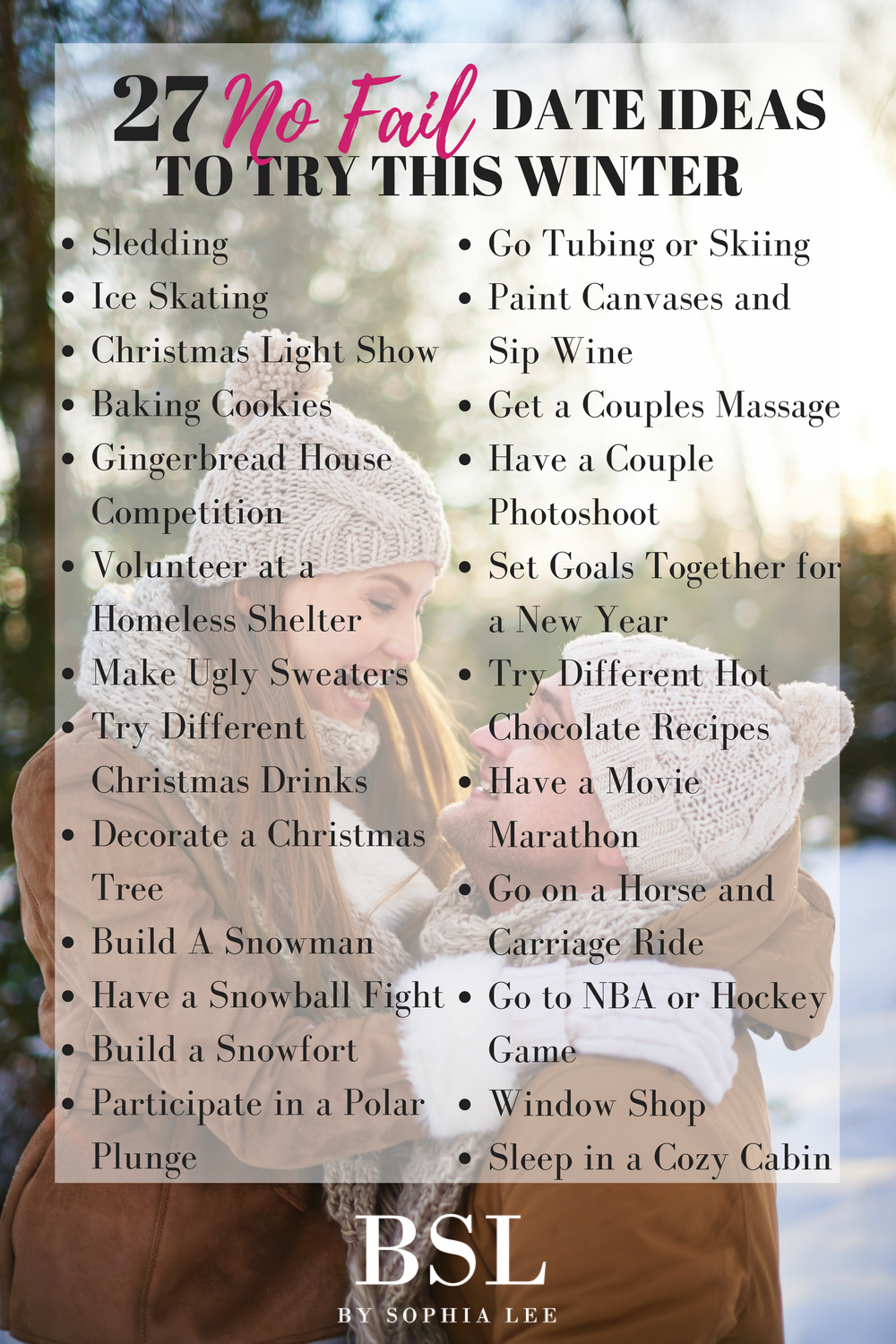 winter date ideas | the influenceher collective | pinterest | winter