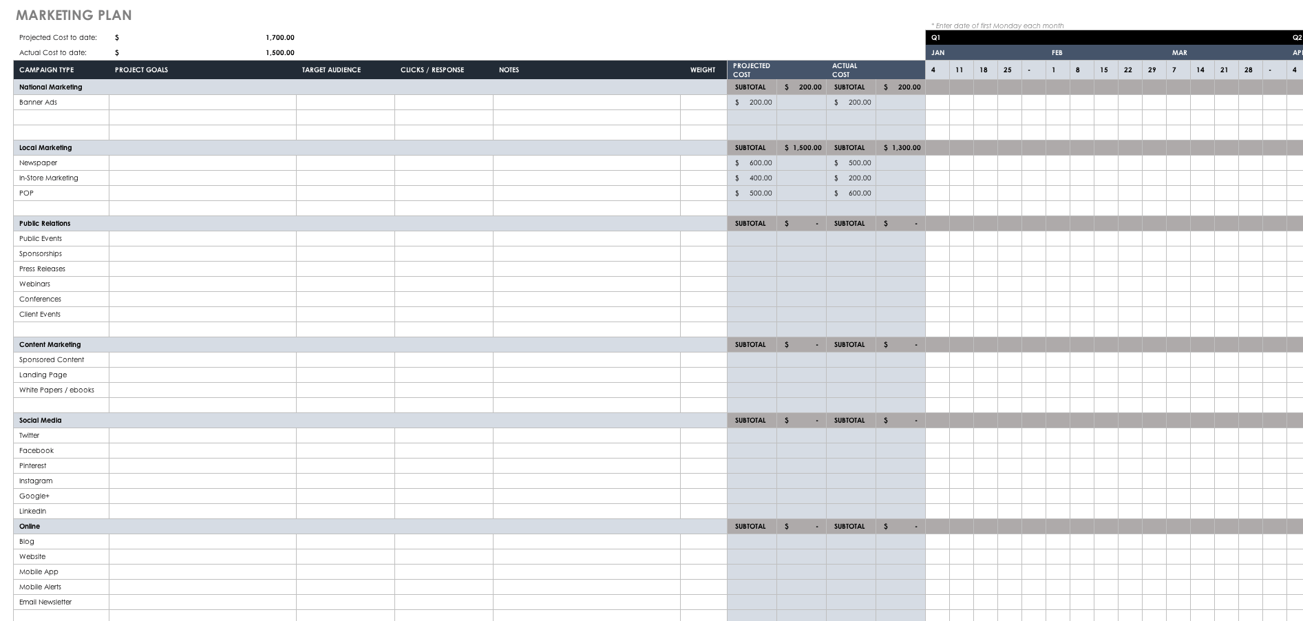 Marketing Plan Guide With Templates