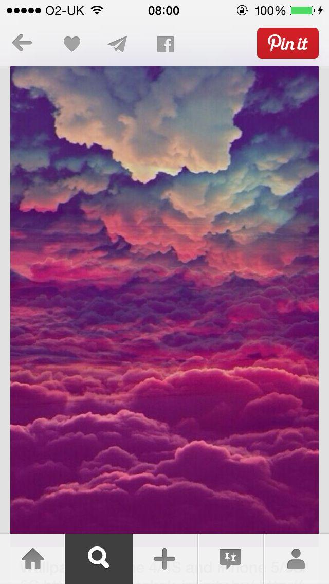 Pink clouds   Clouds, Wallpaper, Iphone wallpaper