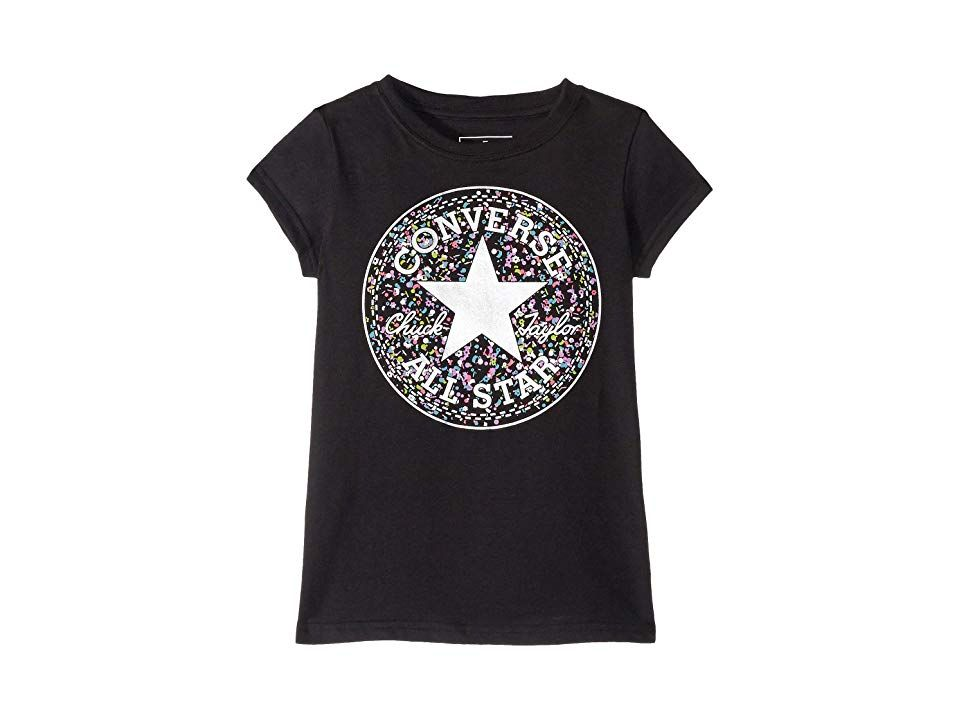 Converse Kids Birthday Confetti Chuck Taylor Tee (Toddler Little Kids)  (Black) Girl s T Shirt. She ll be cool and confident in the Converse Kids  Birthday ... f6be954c9