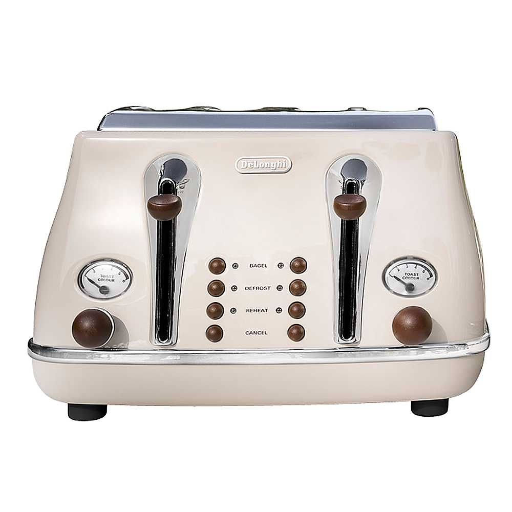 vintage toaster home delonghi icona vintage cream 4 slice toaster vintage toasters. Black Bedroom Furniture Sets. Home Design Ideas