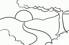 Landscape Colouring Pages Google Search Easy Coloring Pages Art Drawings For Kids Simple Line Drawings