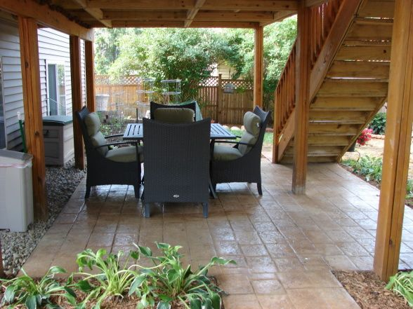 Good Stamped Concrete For Under Deck. Patio Deck DesignsPatio ...