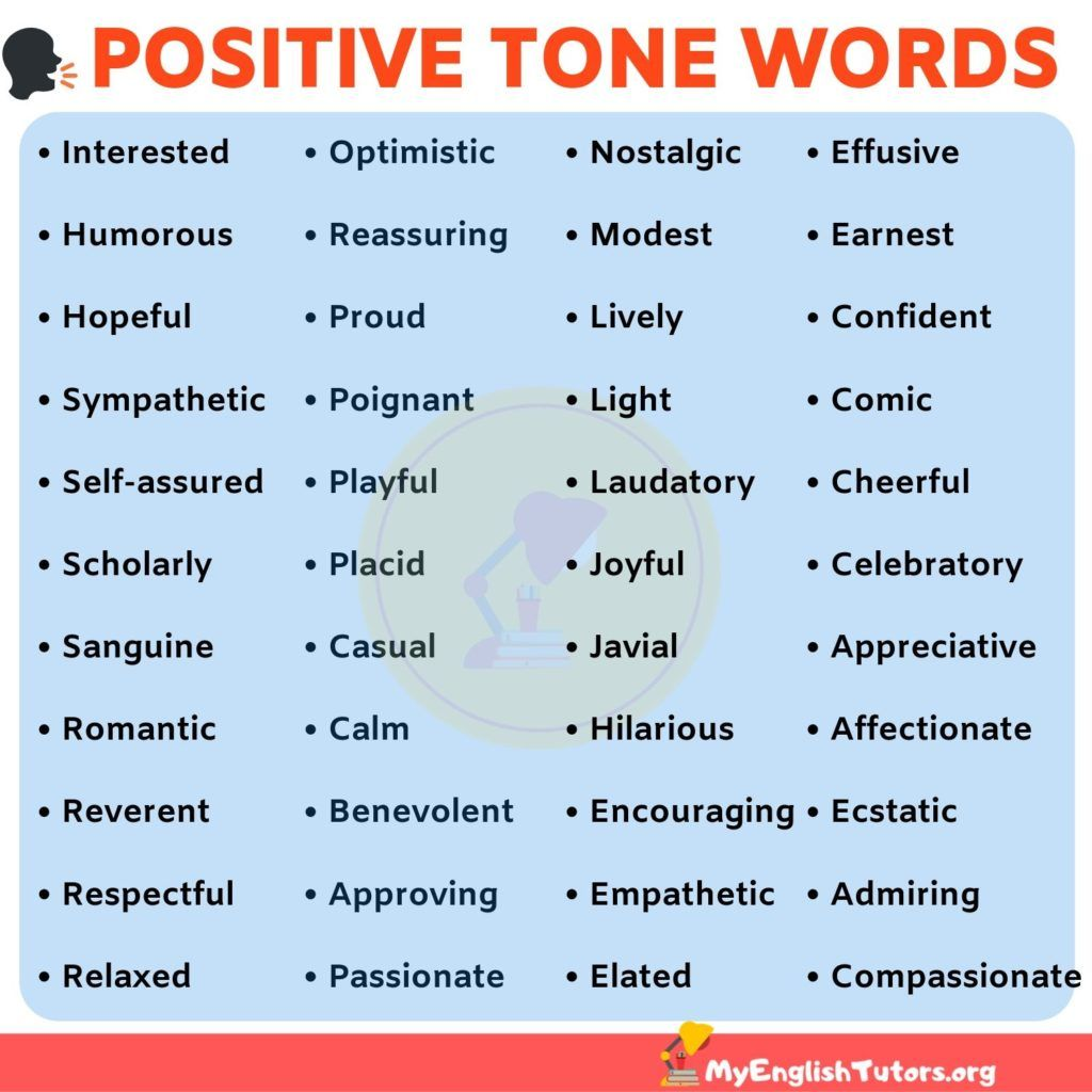 List Of Tone Words 40 Positive Tone Words To Describe