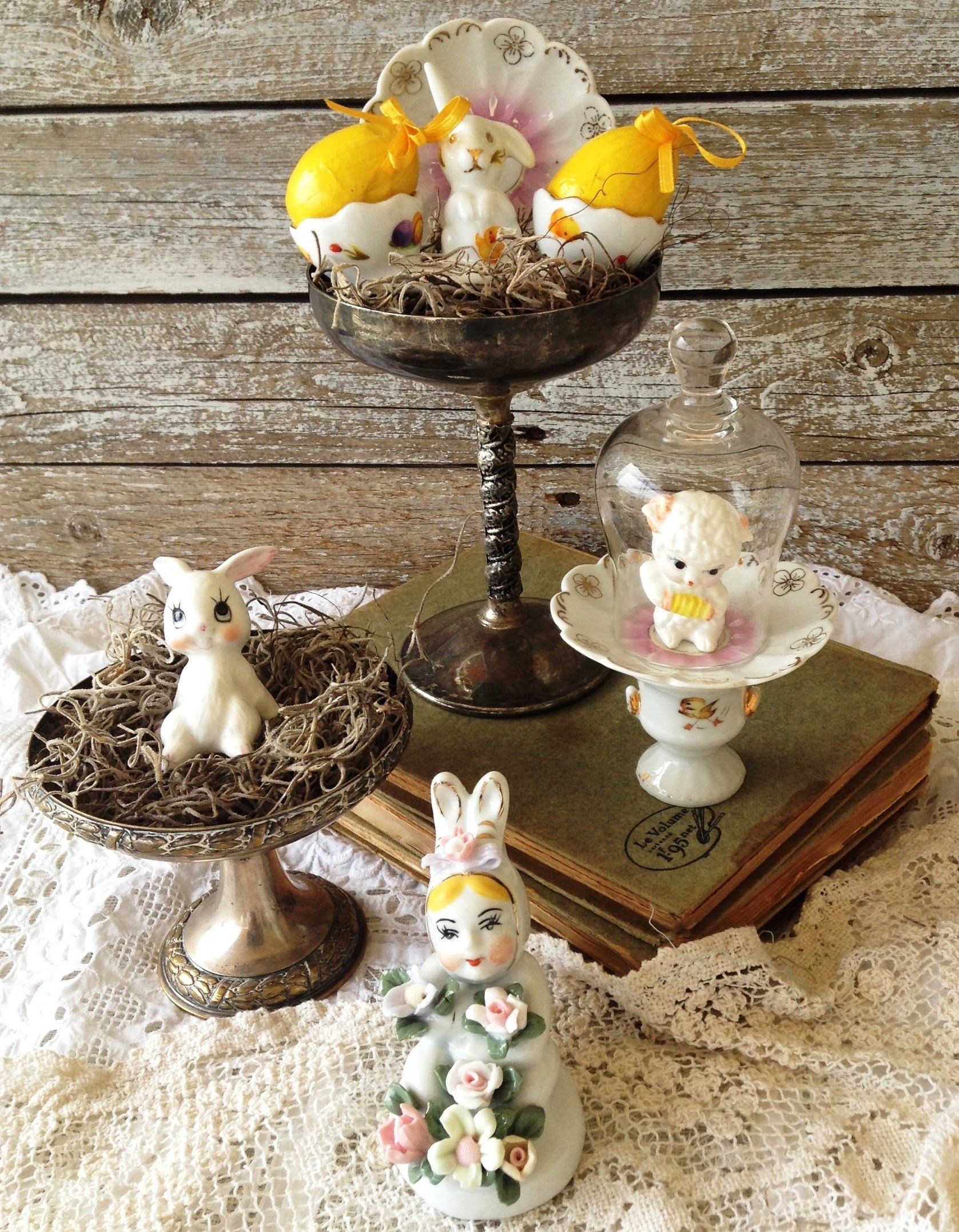 Easter Table Decor Spring Nest Arrangement Spring Centerpiece
