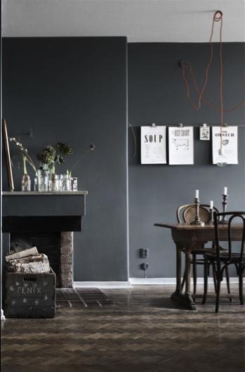 Donker grijze wand | Woonkamer | Pinterest