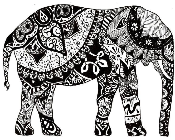 dibujos elefantes hindues  Buscar con Google  dibujod