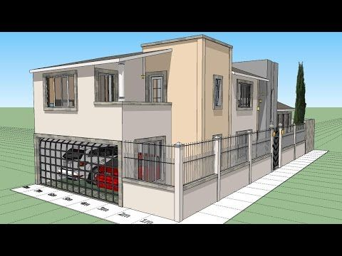 Como dise ar una casa en esquina de 8x20 de terreno - Como disenar planos de casas ...