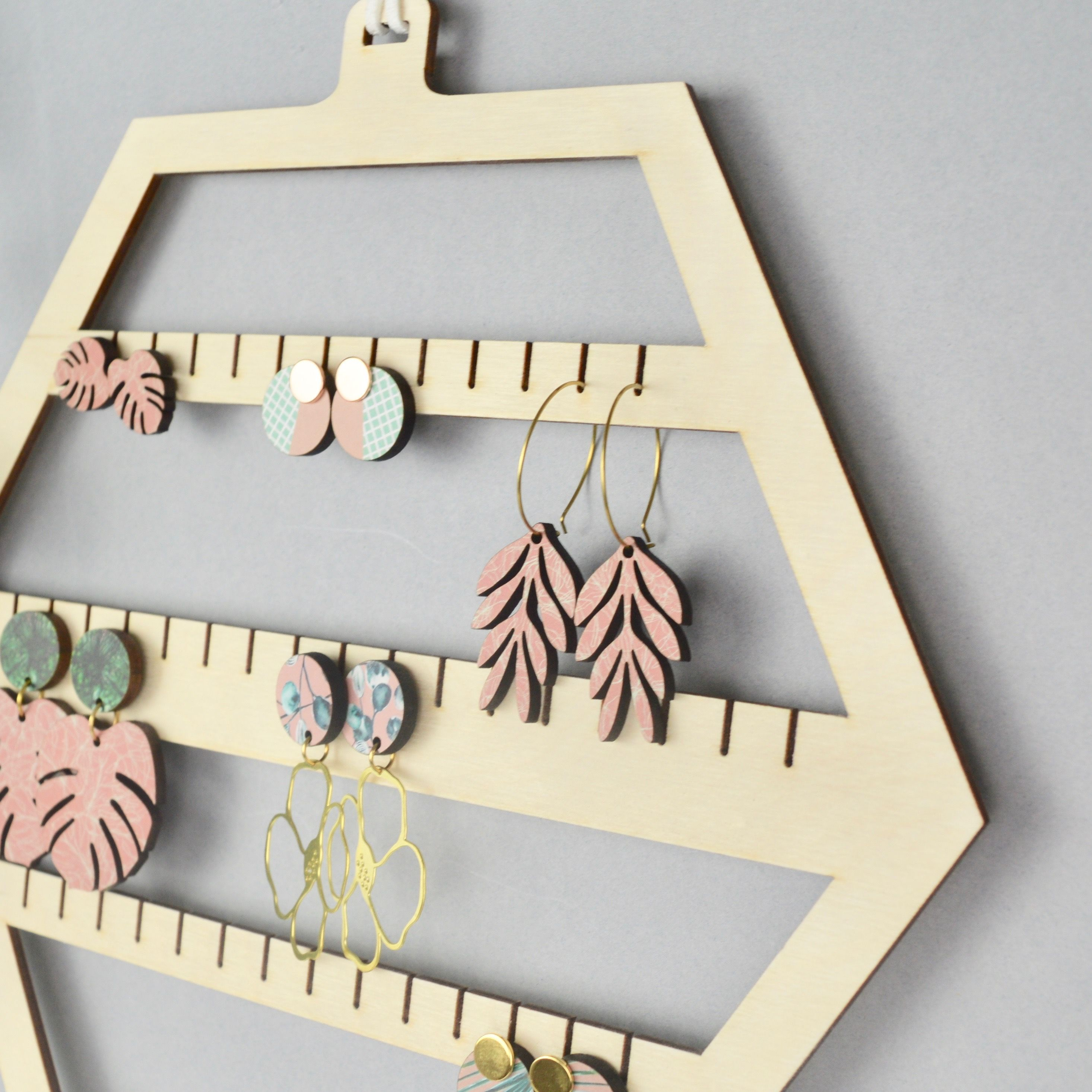Hexagon Earring Hanger By Najb Designs How To