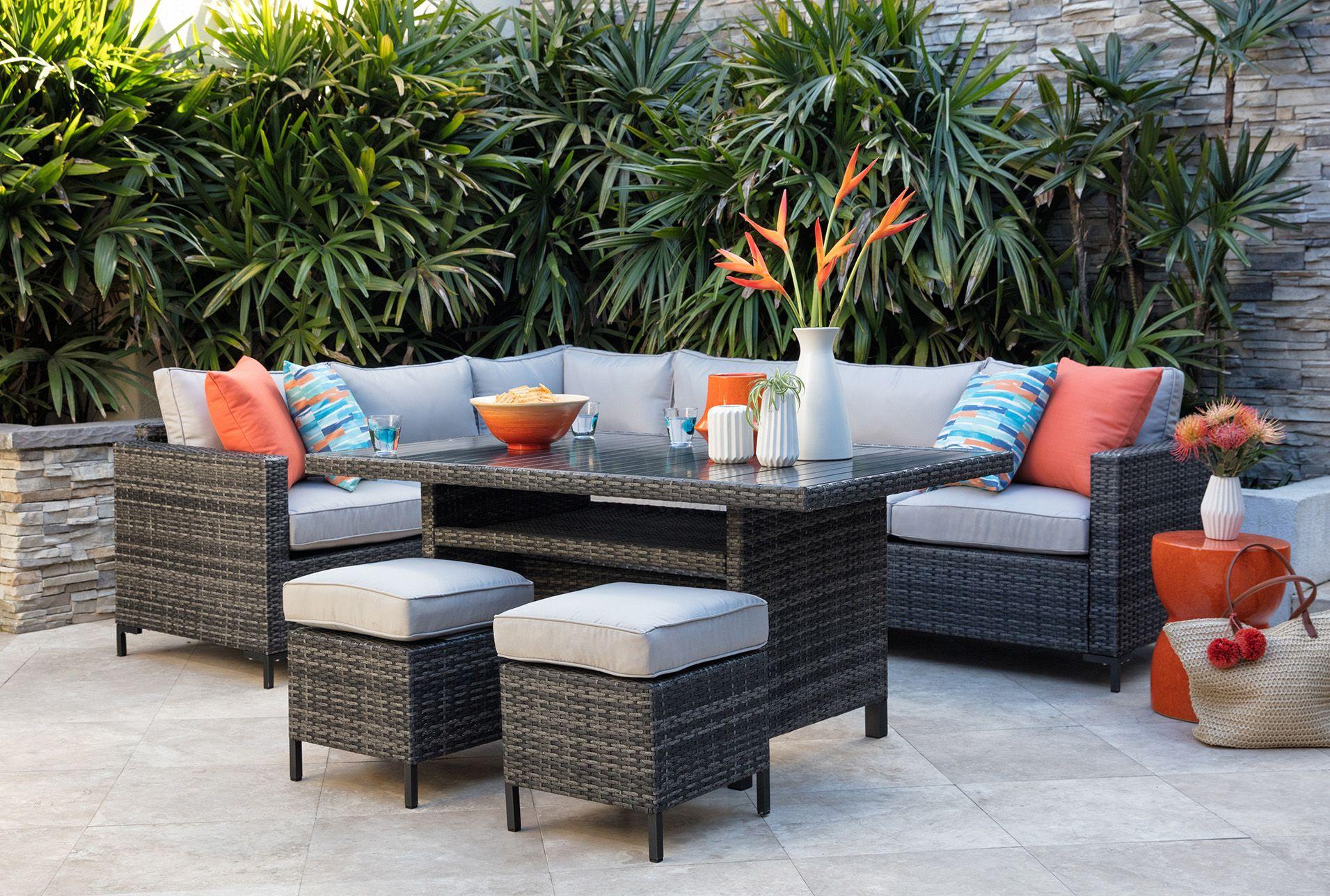 Outdoor Domingo Banquette Lounge Outdoor Furniture Best Outdoor Furniture Outdoor Decor