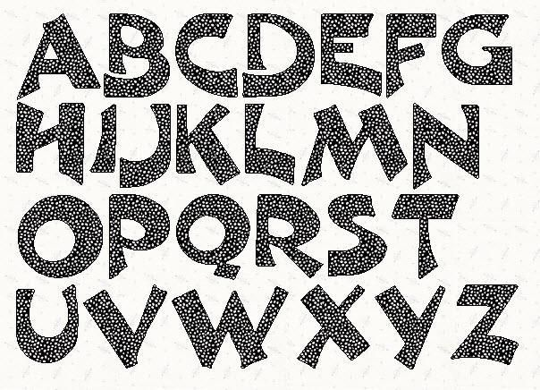 Alphabet Hayward  Inch Stencil  Stenciling Fonts And Craft