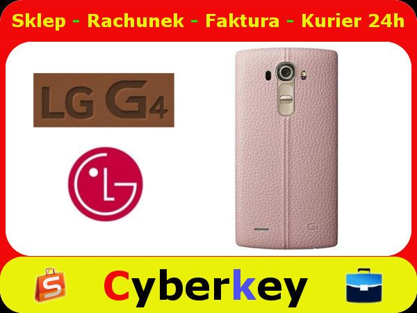 Etui Tyl Plecki Lg G4 Leather Cpr 110 Pink 5574224404 Oficjalne Archiwum Allegro Lg G4 Leather Electronic Products