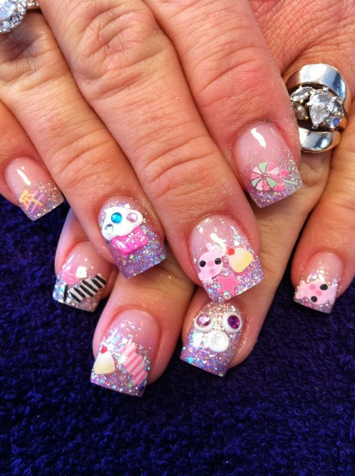 These are my 3-D Candy Crush Nails! As Always done by Jen at ...