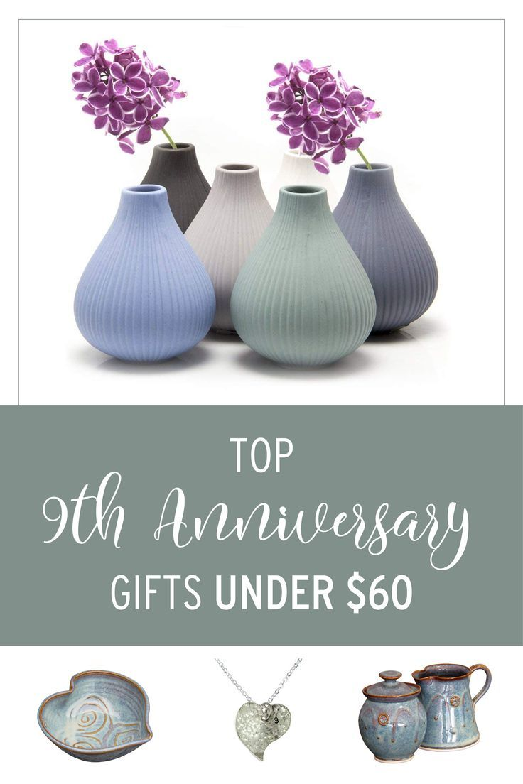 9th Anniversary Gifts for Her Under 60 3rd anniversary