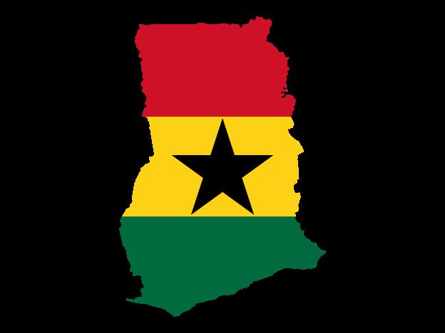 Flag Map Of Ghana Free Vector Maps Map Vector Vector Free Ghana Flag