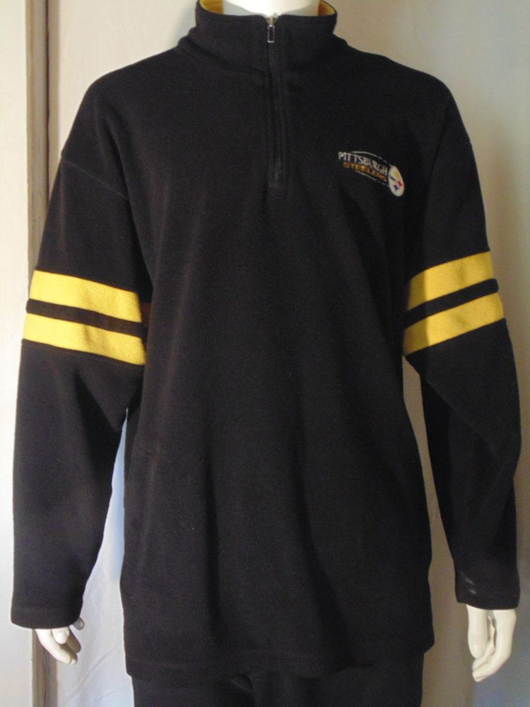 903026df NFL Mens Sweater Pittsburgh Steelers X Large XL Black Yellow ...