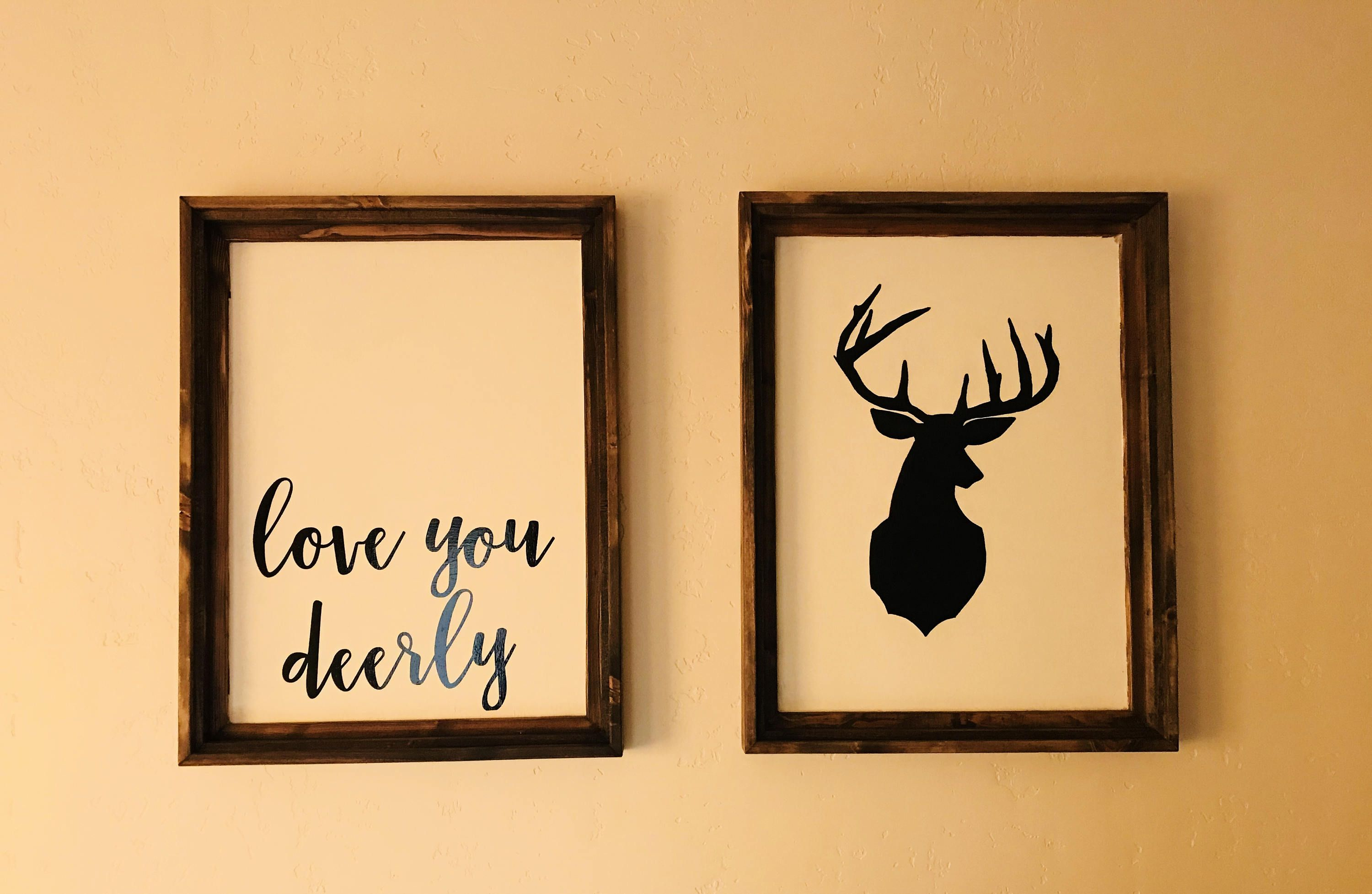 Deerly nursery sign, Love you Deerly Sign, deerly wood sign, Love ...