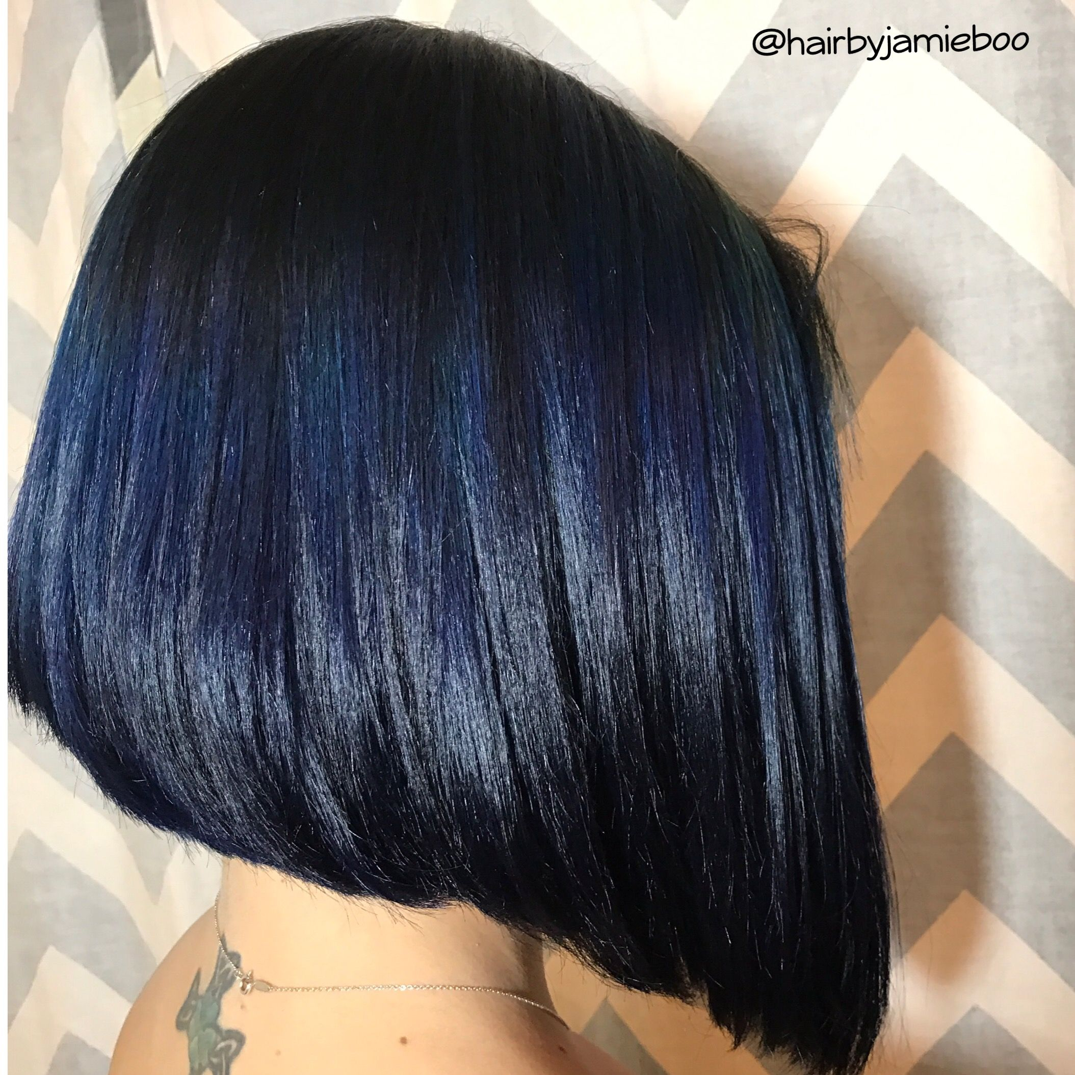 Dark Blue Bob Cool Hairstyles Hair Beauty Cat Long Hair Styles