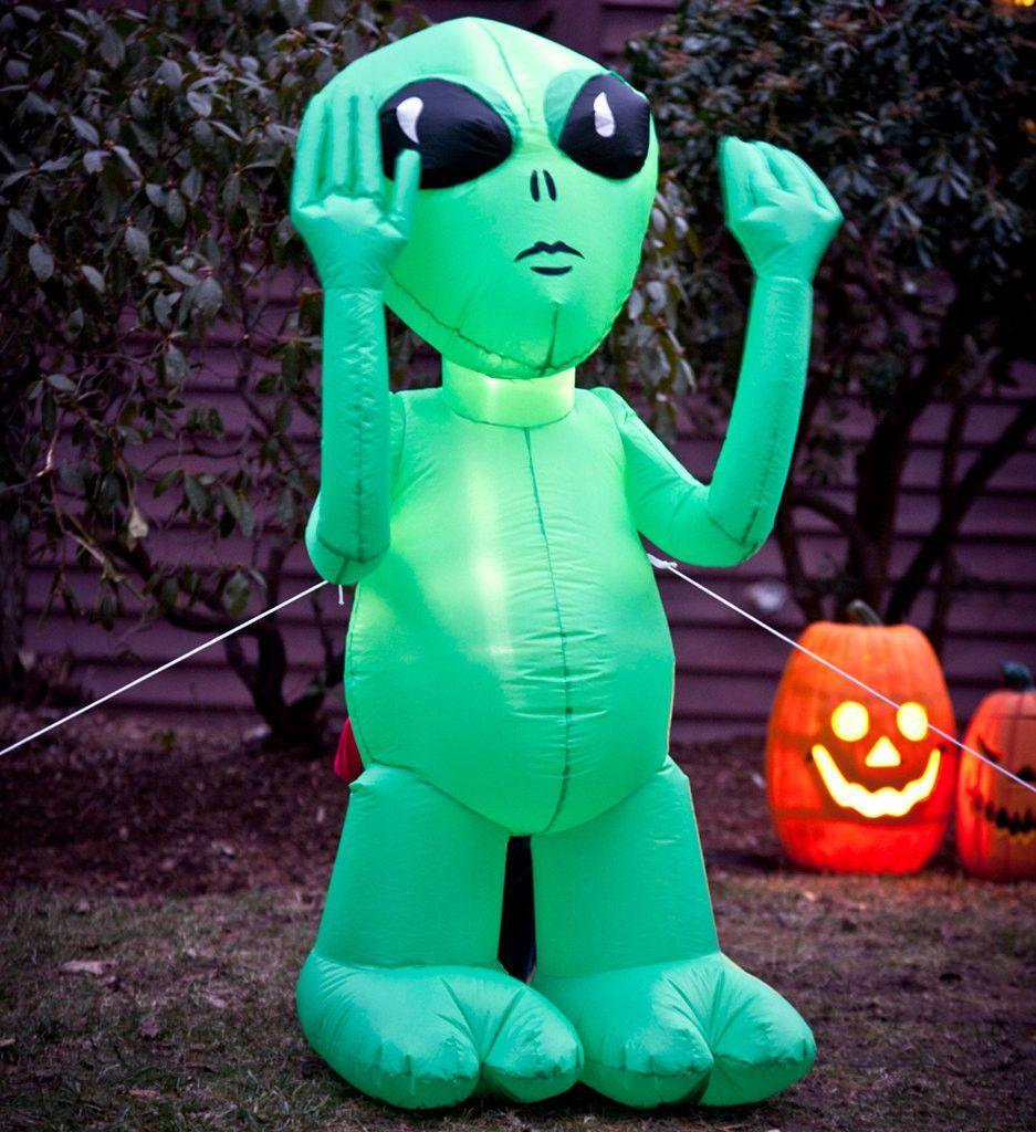 inflatable green alien Alien party, Halloween