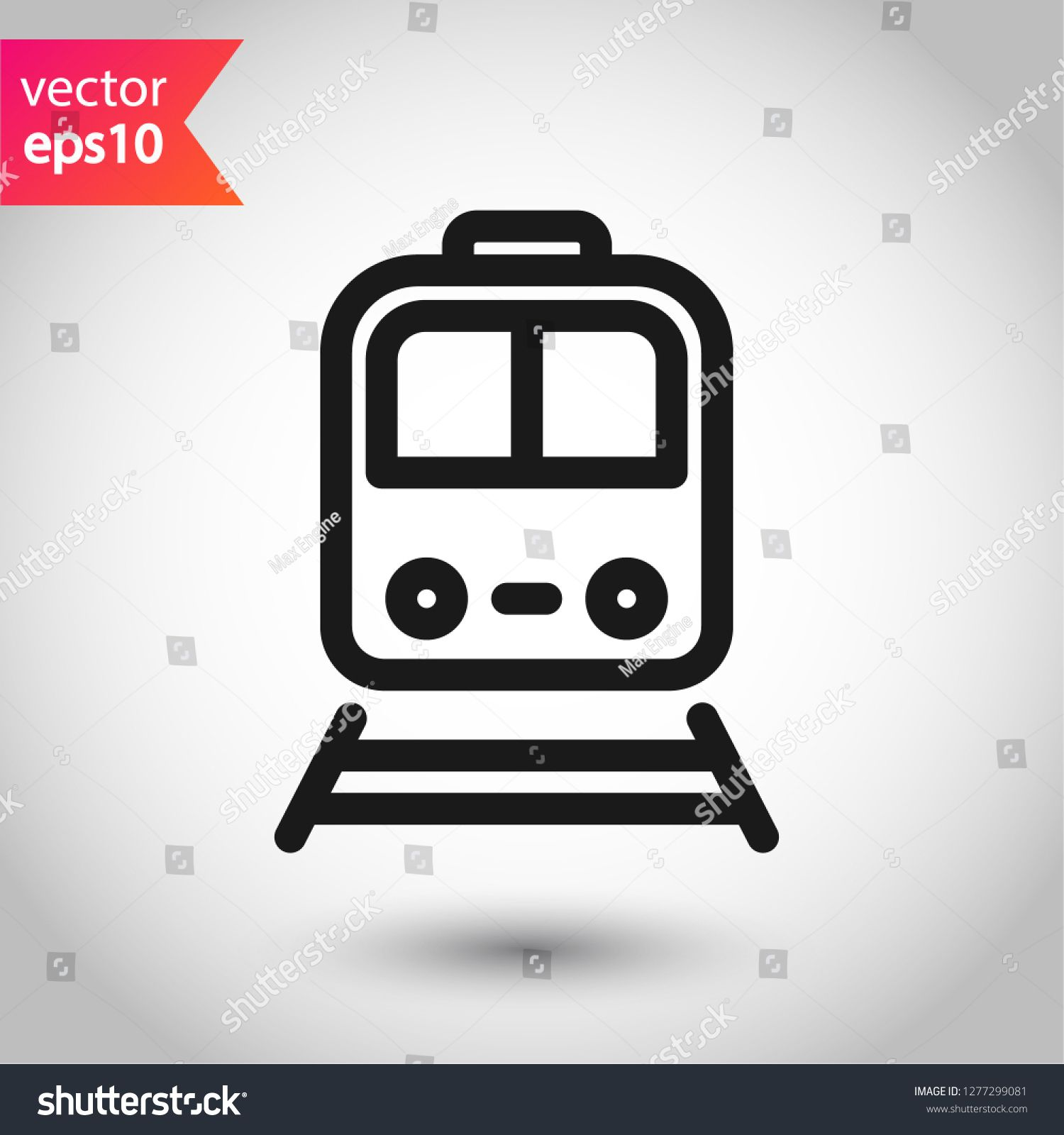 Train Icon Subway Line Icon Metro Symbol Locomotive Vector Sign Train Outline Vector Icon Eps 10 Public Transport Icon Line Icon City Illustration Vector