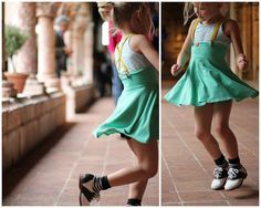 awesome little girl outfit.  From NYC taught me.  I think the pieces are from American Apparel