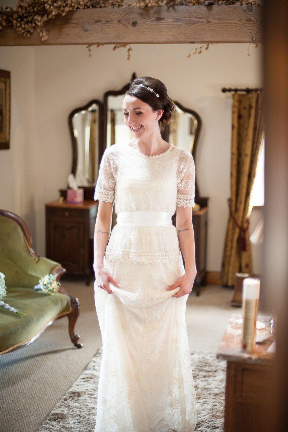 A Zara Wedding Dress For A Diy And Handcrafted Spring Yellow Wedding Love My Dress Uk Wedding Blog Wedding Directory Modest Lace Wedding Dresses Zara Wedding Dress Wedding Dress Inspiration [ 1442 x 960 Pixel ]