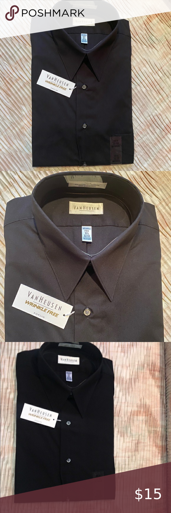 Van Heusen Nwt Men S Black Dress Shirt Black Dress Shirt Men Black Shirt Dress Mens Shirt Dress [ 1740 x 580 Pixel ]