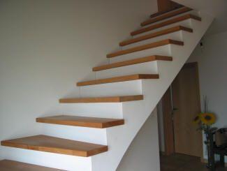 Habillage D Escalier En Beton Avec Du Bois Massif Habillage