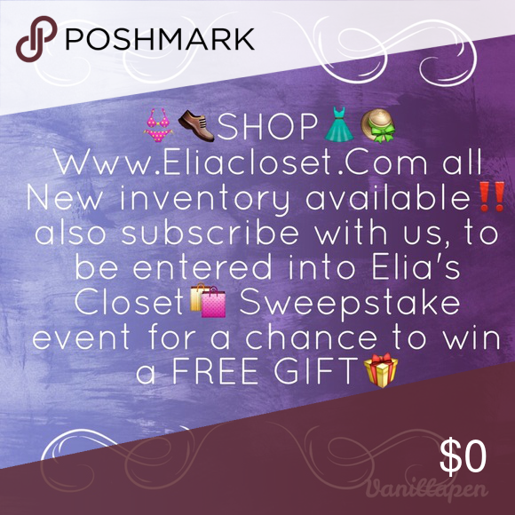 Subscribe with us @ ✨www.EliaCloset.com✨ Subscribe with us at ✨www.EliaCloset.com✨ for a chance to win a Free  Gift‼ winner will be announced July 4th❤️ Other
