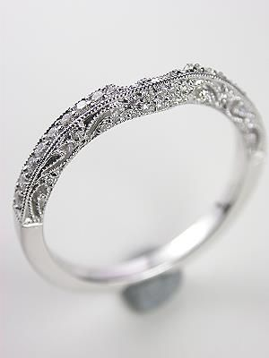 Antique Style Filigree Wedding Ring Rg 2567wbn In 2019 Vintage