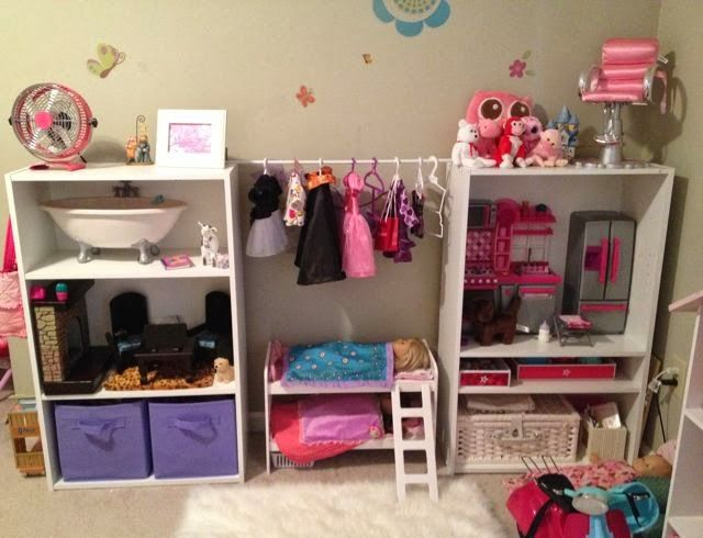 The Grasshopper's Knee: American Girl Doll Storage #americandolls