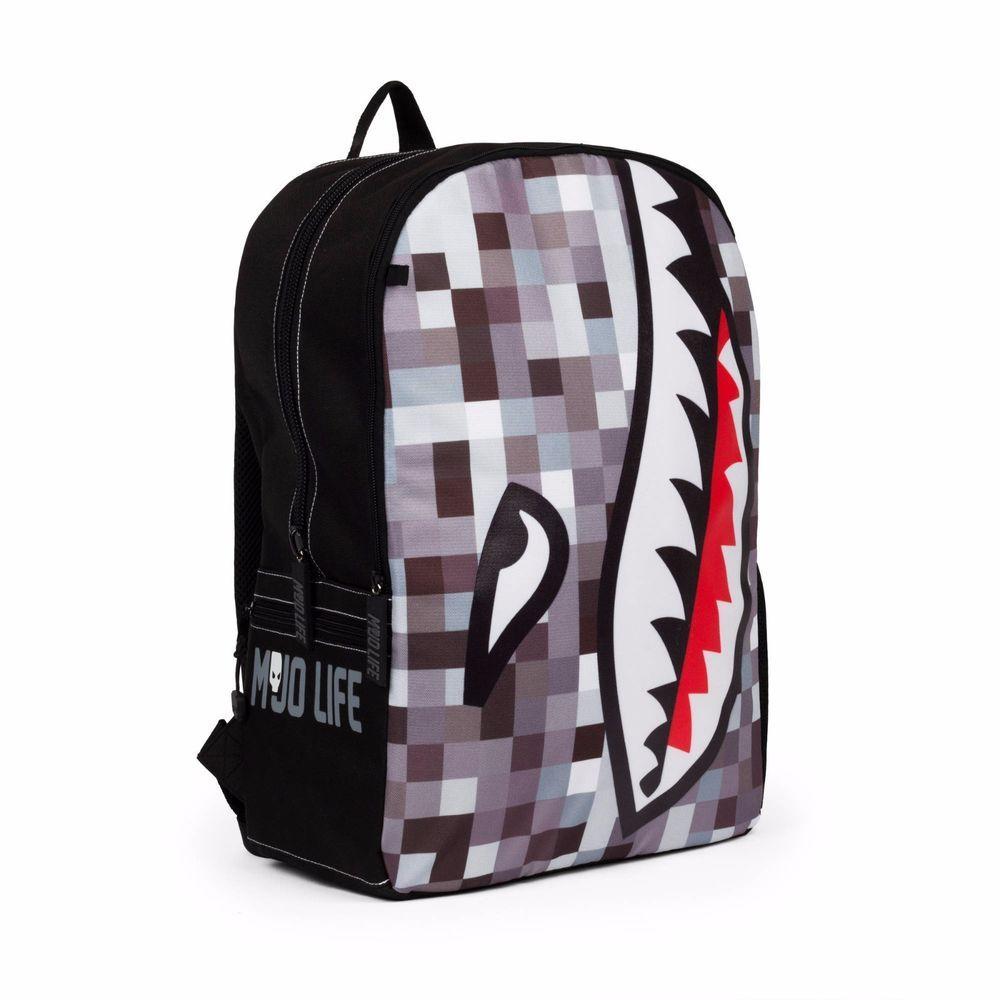 MOJO LIFE Digi Shark Backpack 17 inches Tall Lap Top Urban Fashion NEW