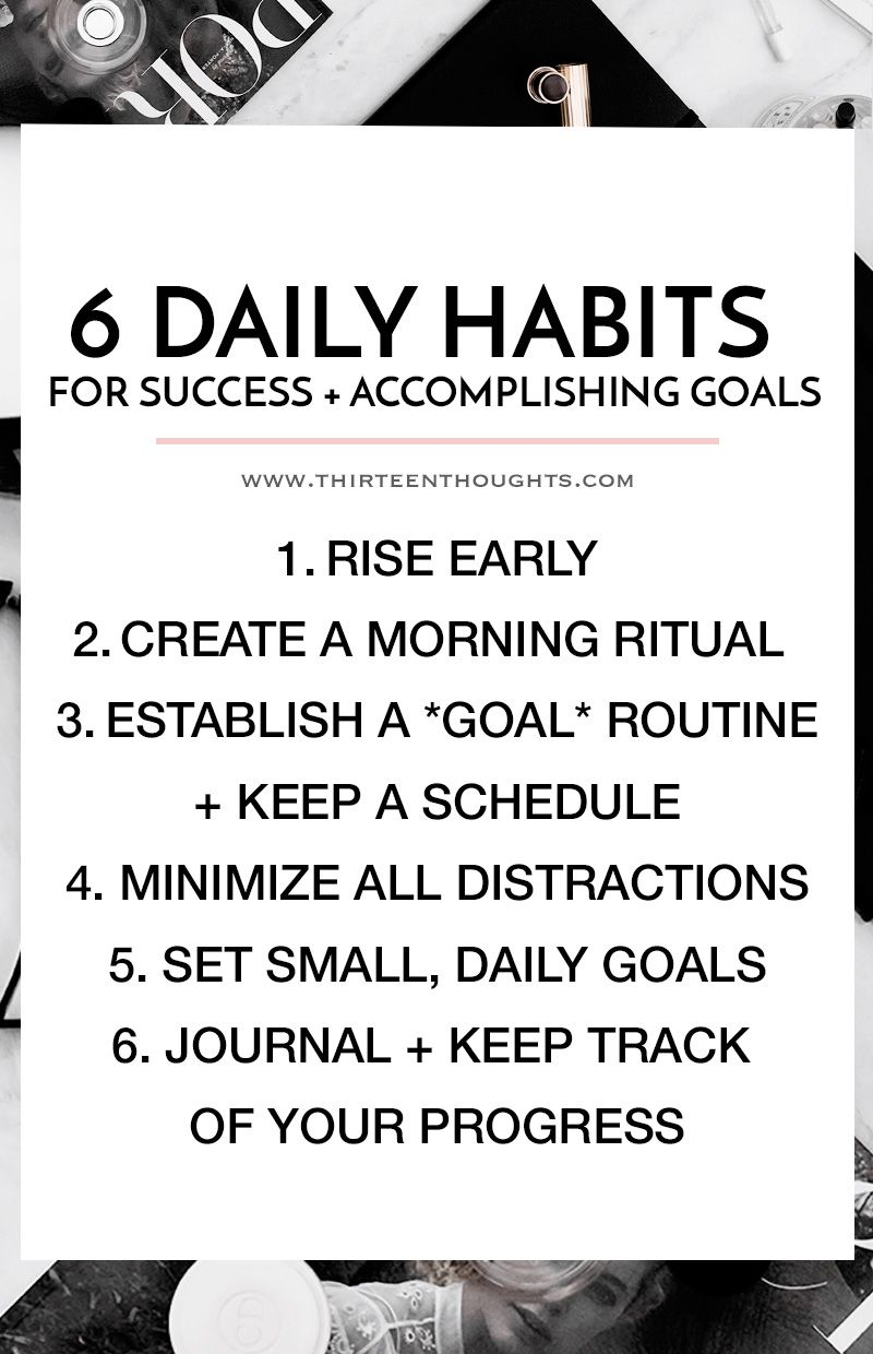 Workbooks success principles workbook : 6 Daily Habits for Success + Accomplishing Your Goals | Goal ...