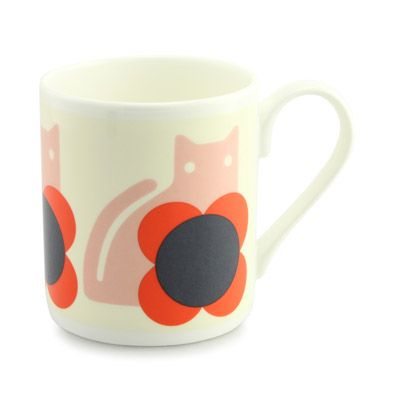 Orla Kiely Uk House Cups Mugs Cat Mug 0mugcat700