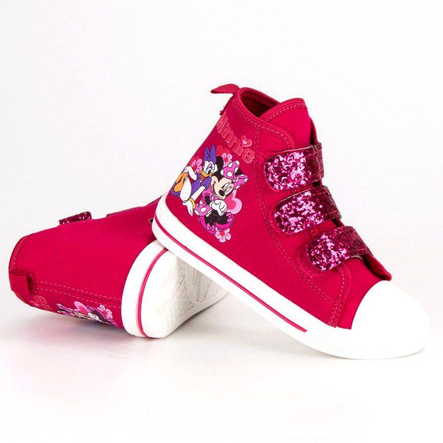 Buty Sportowe Dzieciece Dla Dzieci Butymodne Rozowe Trampki Na Rzepy Myszki Miki High Top Sneakers Baby Shoes Shoes