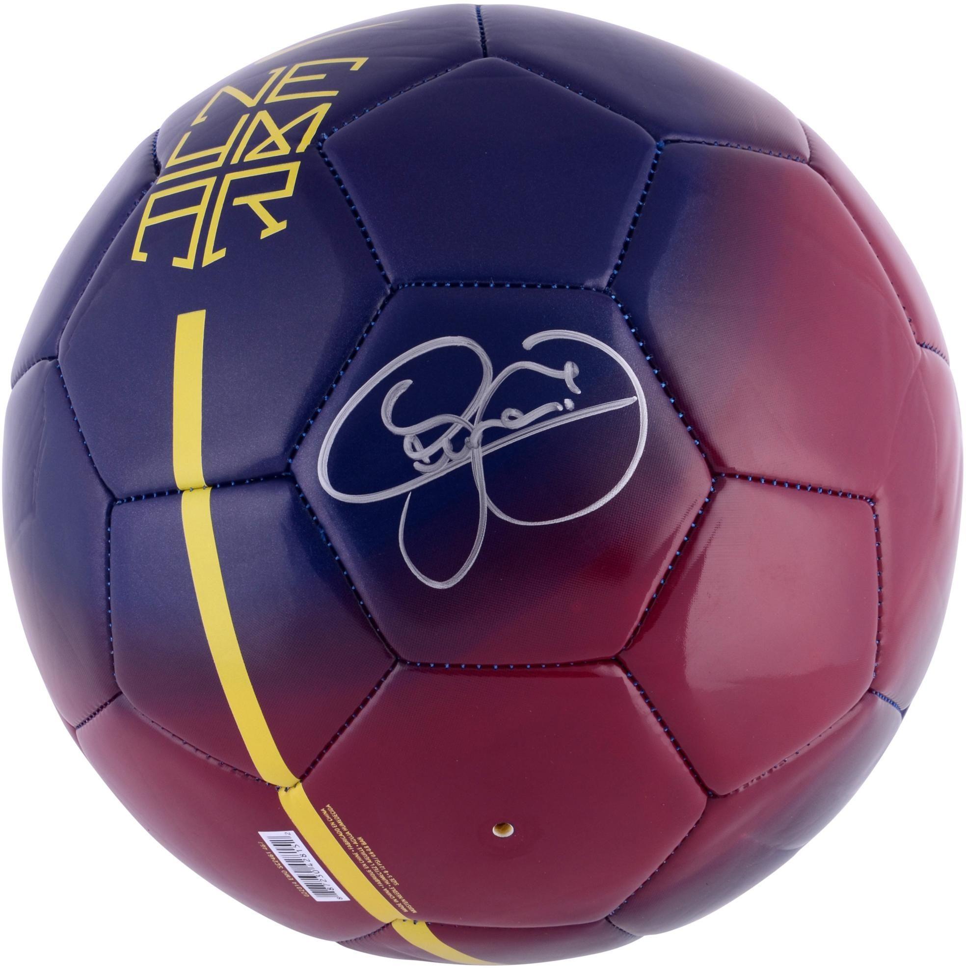 18e2532806 Neymar Autographed Nike Neymar Soccer Ball