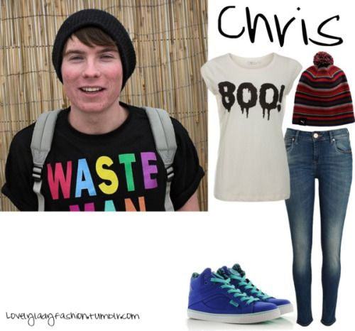 lovelyladyfashion:   Chris Miles by nearlysamantha featuring high top shoes Graphic t shirt, $13 / River Island super skinny jeans, $48 / Pastry high top shoes, $88 / Puma knit hat   note to self: make myself this shirt