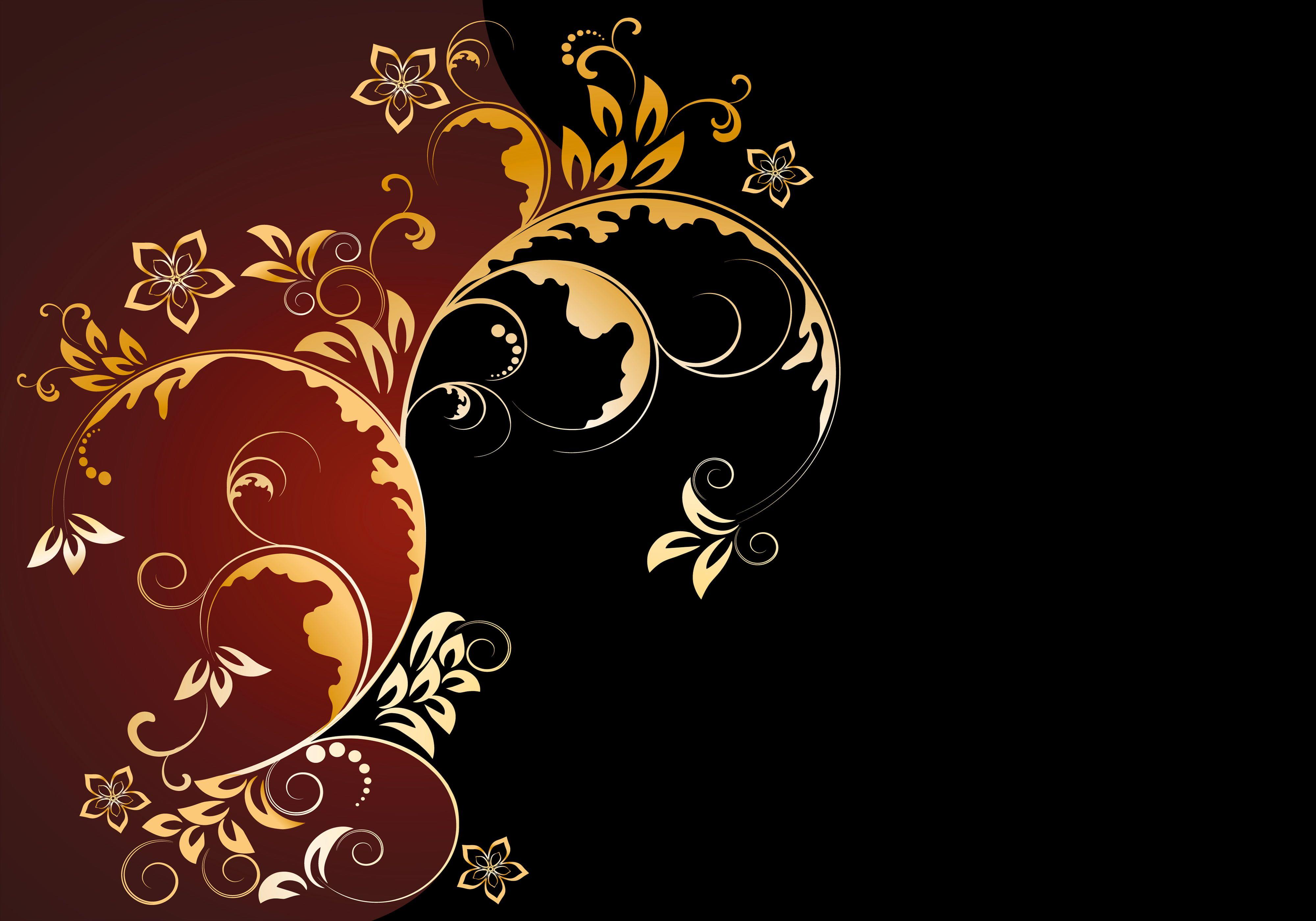 black and brown floral wallpaper ...