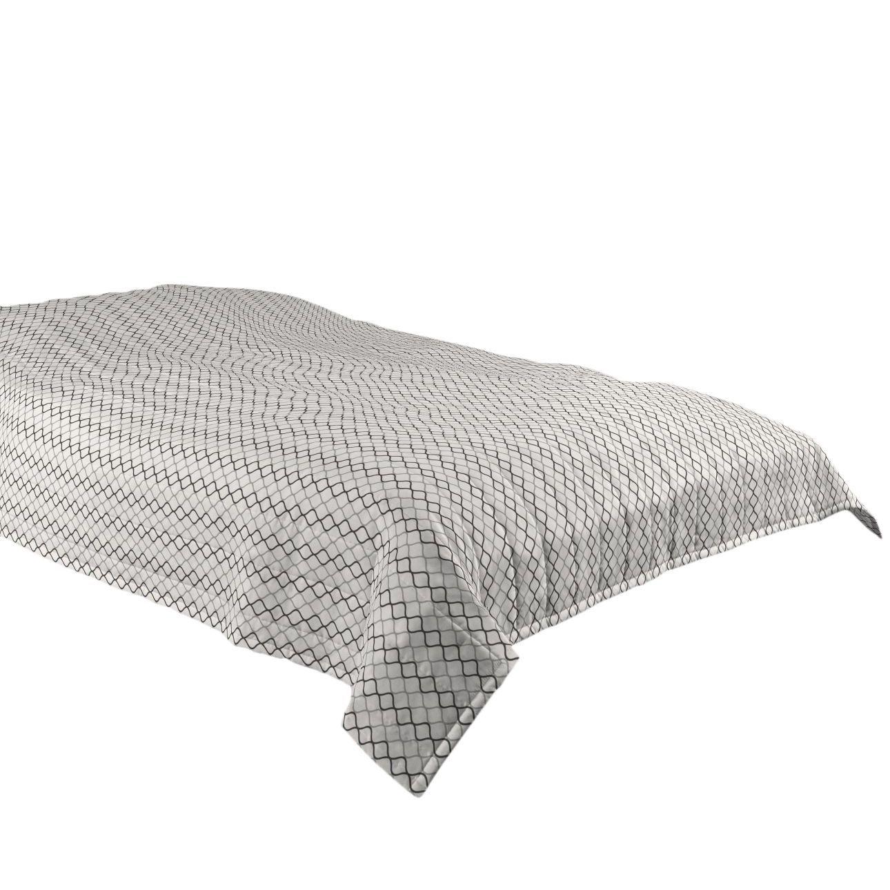 Patchwork Tagesdecke Selber Machen Bettüberwurf Grau