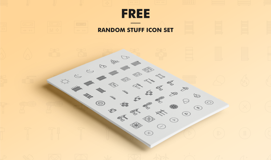 100 Free Line Icon Set of Random Stuff Free icon set