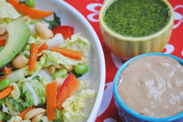 Thai Meets Salad   Cilantro-Lime Dressing  Thai Peanut Dressing
