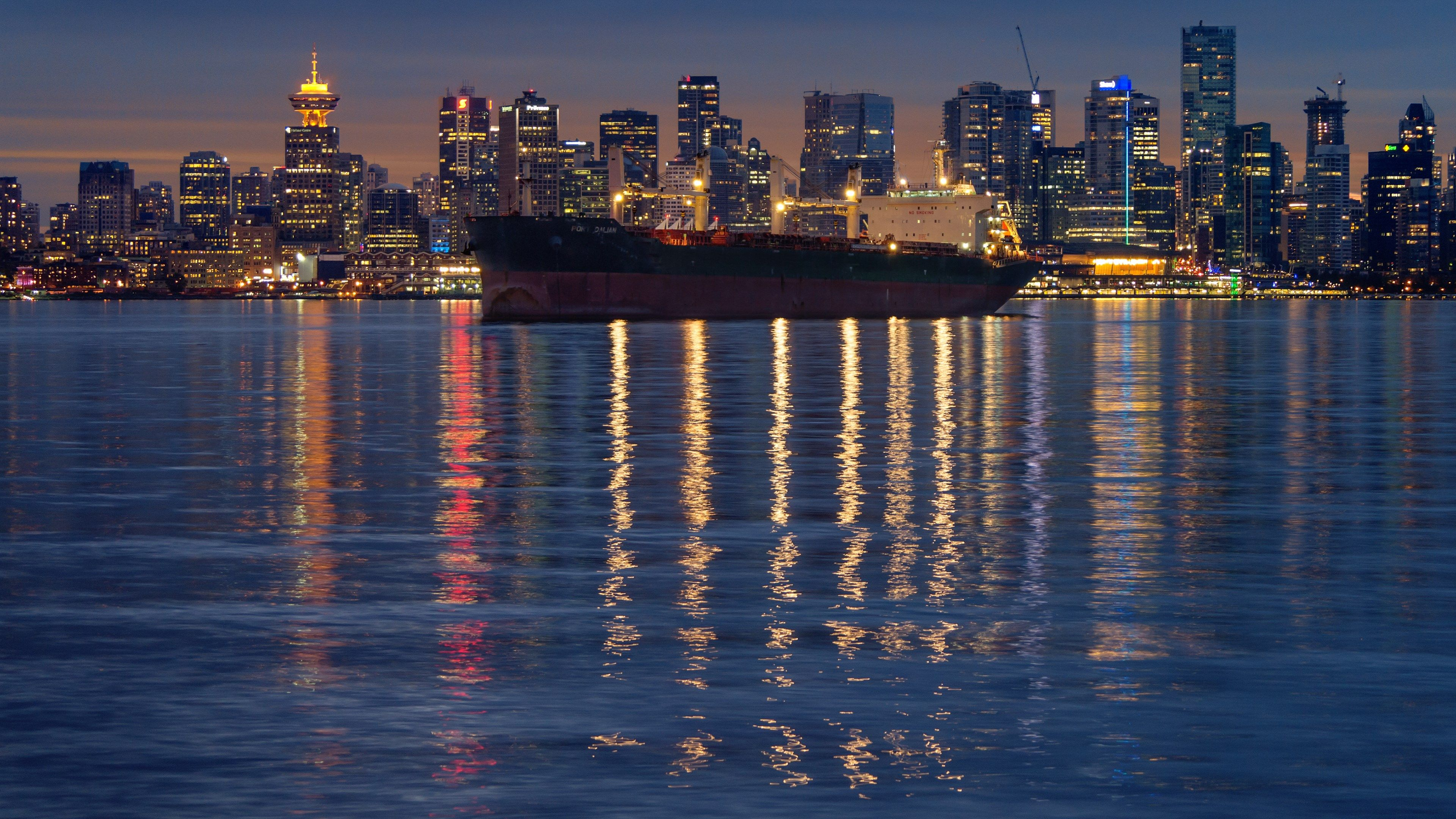 4k Best Photos For Wallpaper 3840x2160 City Lights At Night Downtown Vancouver Wallpaper