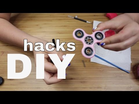 Diy Fidget Spinner Without Bearings Using Common Household Items You