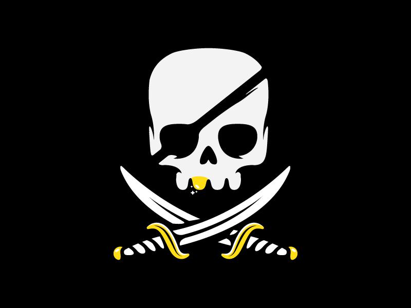Pirate Logo Skull Logo Halloween Logo Graphic Design Logo