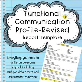 Functional Communication Speech Evaluation Report Template